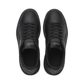Thumbnail 6 of PUMA Smash v2 Leather Sneakers PS, Puma Black-Puma Black, medium