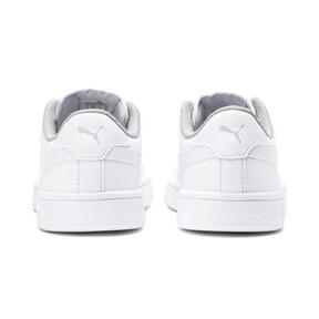 Miniatura 3 de Zapatos de cuero PUMA Smash v2 para niño pequeño, Puma White-Puma White, mediano