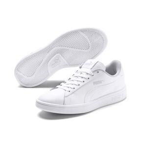 Miniatura 2 de Zapatos de cuero PUMA Smash v2 para niño pequeño, Puma White-Puma White, mediano