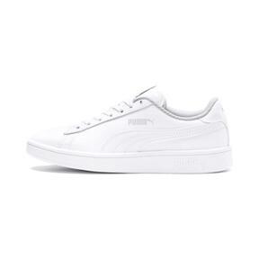Miniatura 1 de Zapatos de cuero PUMA Smash v2 para niño pequeño, Puma White-Puma White, mediano