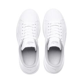 Miniatura 6 de Zapatos de cuero PUMA Smash v2 para niño pequeño, Puma White-Puma White, mediano