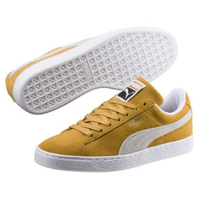 Thumbnail 2 of Suede Classic Sneakers, Honey Mustard-Puma White, medium