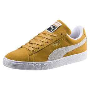 Thumbnail 1 of Suede Classic Sneakers, Honey Mustard-Puma White, medium
