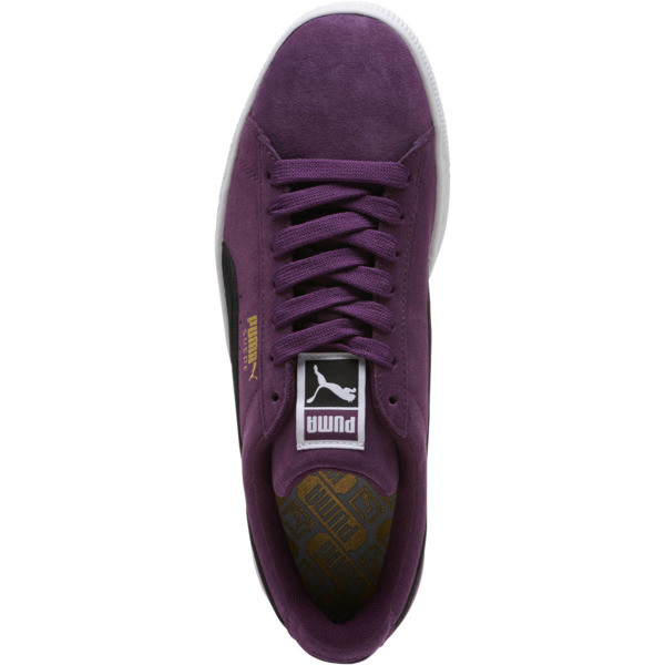 Suede Classic Sneakers, Shadow Purple- Black-White, large