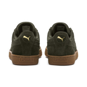 Thumbnail 4 of Suede Classic Trainers, Forest Night-Puma Team Gold, medium