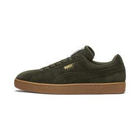 Thumbnail 1 of Suede Classic Trainers, Forest Night-Puma Team Gold, medium