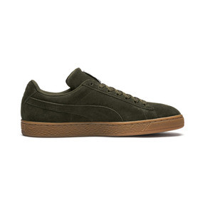 Thumbnail 5 of Suede Classic Trainers, Forest Night-Puma Team Gold, medium