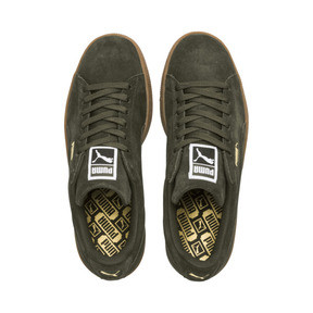 Thumbnail 6 of Suede Classic Trainers, Forest Night-Puma Team Gold, medium