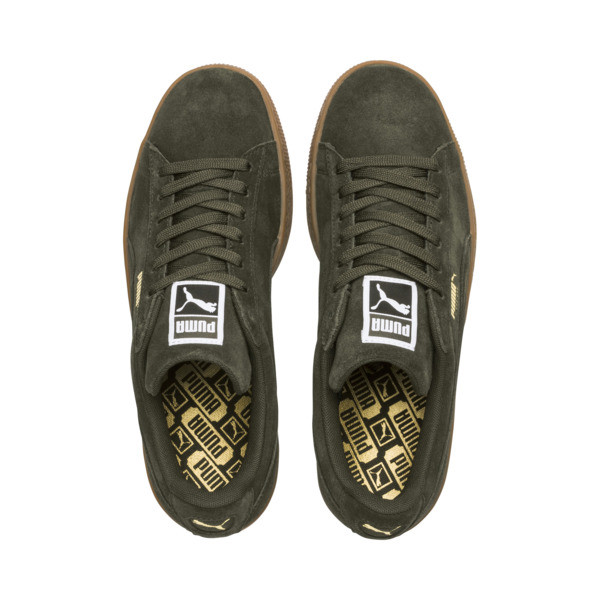Suede Classic Trainers, Forest Night-Puma Team Gold, large