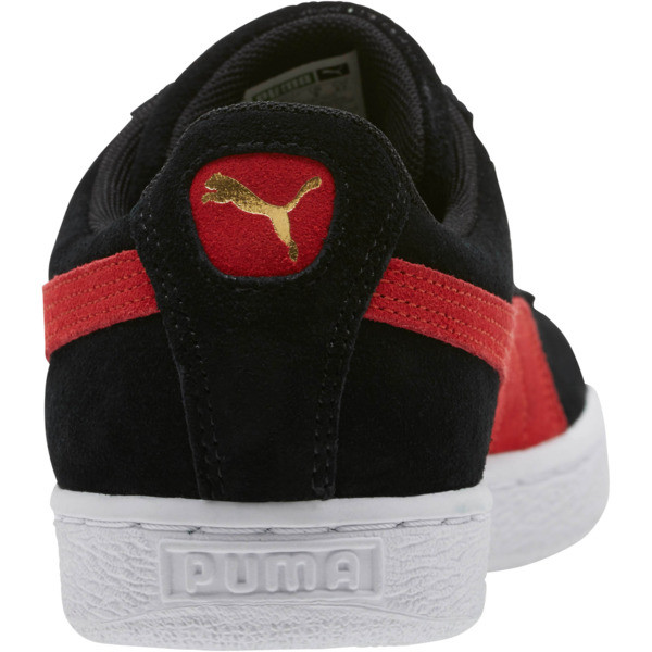 Suede Classic Sneakers, Black-Ribbon Red-Gold, large