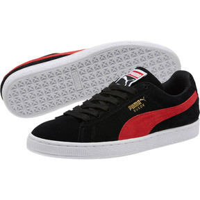 Thumbnail 2 of Suede Classic Sneakers, Black-Ribbon Red-Gold, medium