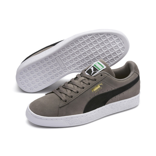 Suede Classic, Charcoal Gray-Puma Black, large