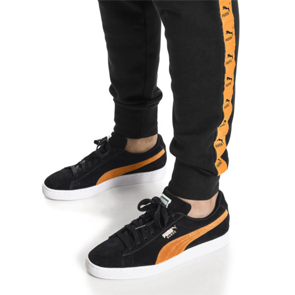 Suede Classic, Puma Black-Orange Pop, large