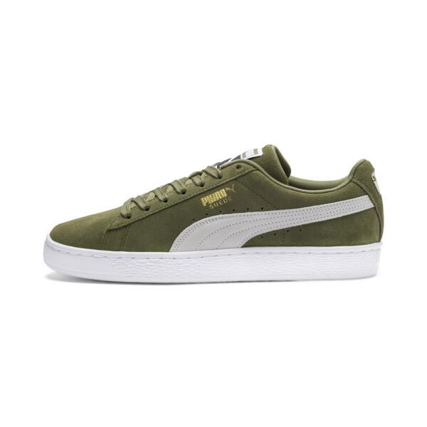 Suede Classic Sneakers, Olivine-Puma Black, large