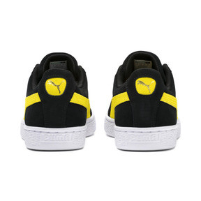 Thumbnail 4 of Suede Classic Trainers, Puma Black-Blazing Yellow, medium