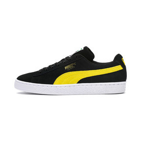 Thumbnail 1 of Suede Classic, Puma Black-Blazing Yellow, medium