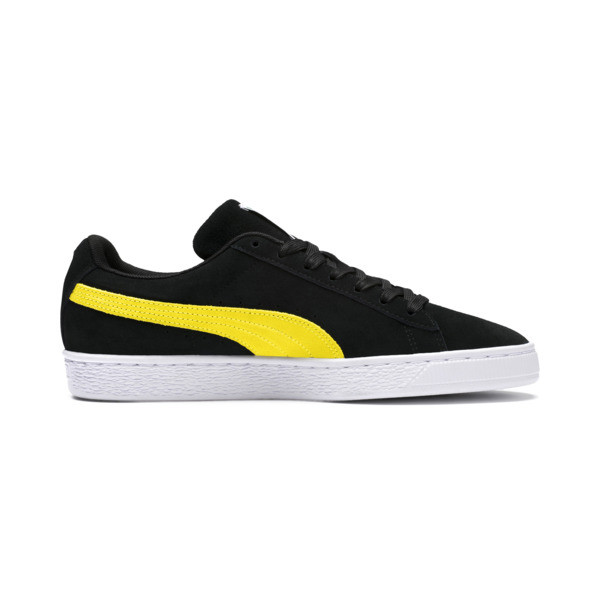 Suede Classic Trainers, Puma Black-Blazing Yellow, large