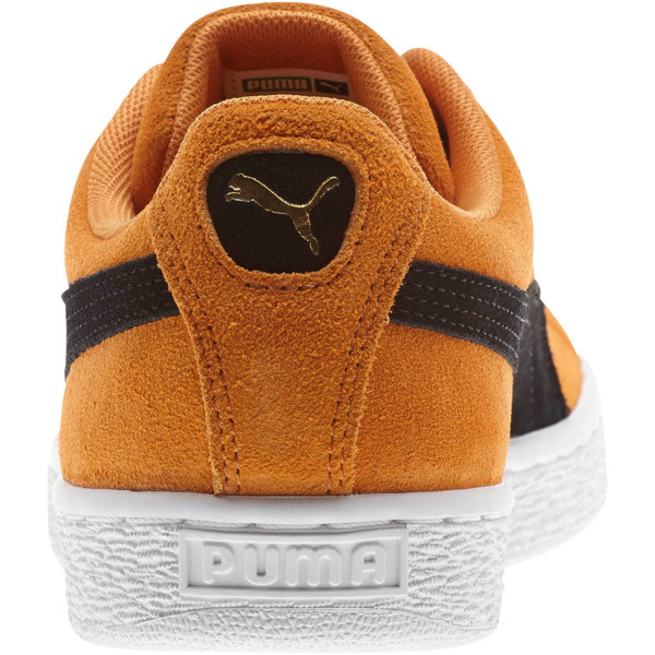 Suede Classic Sneakers, Orange Pop-Puma Black, large