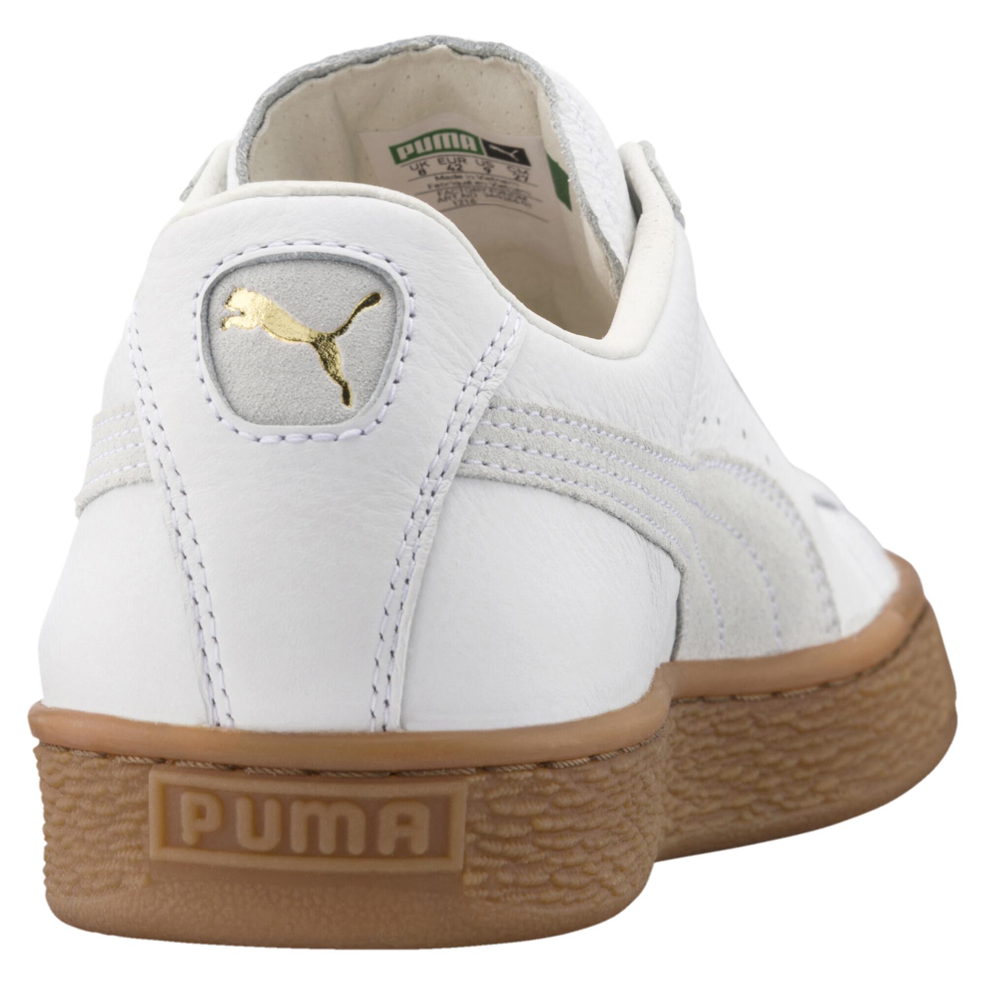 Image Puma Men's Basket Classic Gum Deluxe Sneakers #4
