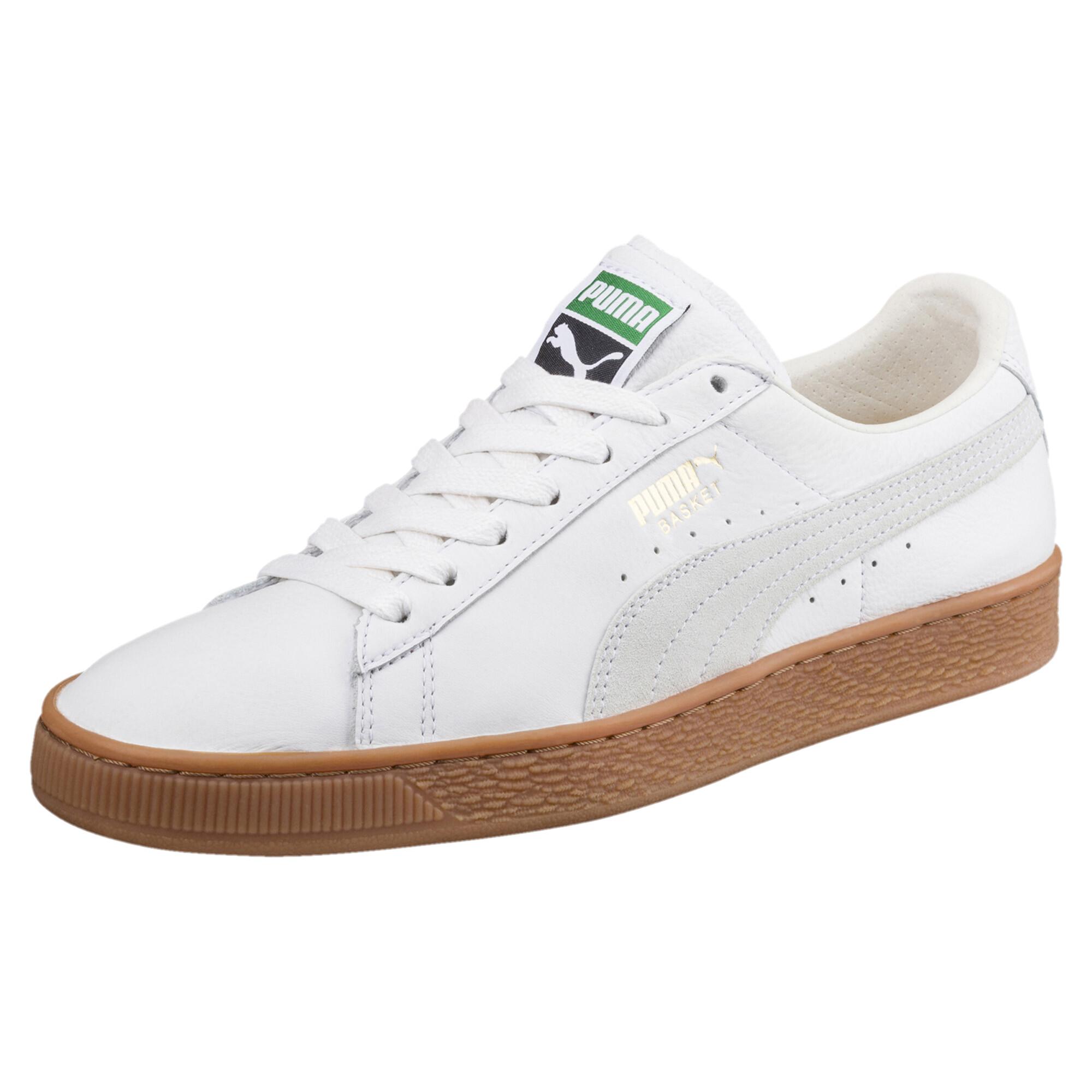 Image Puma Men's Basket Classic Gum Deluxe Sneakers #1