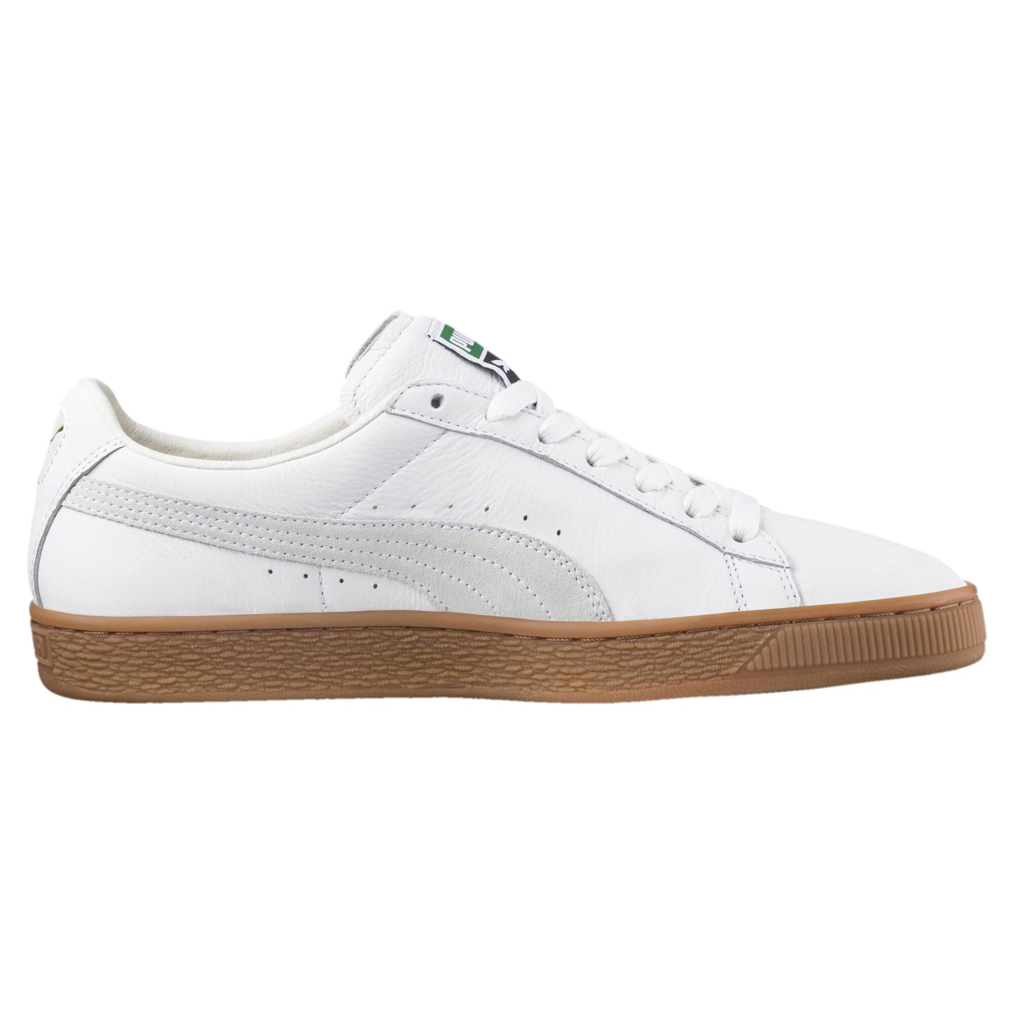 Image Puma Men's Basket Classic Gum Deluxe Sneakers #3