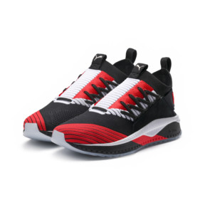 Thumbnail 2 of TSUGI JUN Cubism Sneakers, Black-White-Flame Scarlet, medium