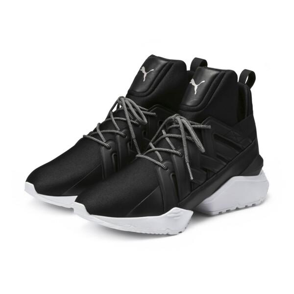 Muse Echo Satin Women's Sneakers, Puma Black-Puma White, large