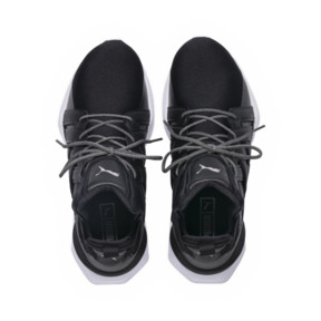 Thumbnail 5 of Muse Echo Satin Women's Sneakers, Puma Black-Puma White, medium