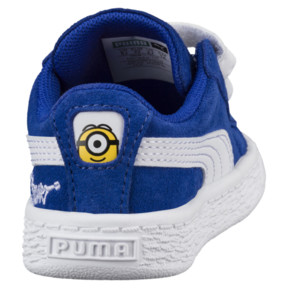 Thumbnail 4 of Minions Suede V Infant Sneakers, Olympian Blue-Puma White, medium