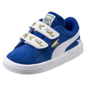 Thumbnail 1 of Minions Suede V Infant Sneakers, Olympian Blue-Puma White, medium