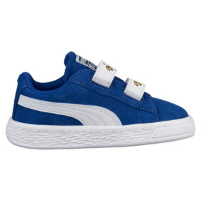 Thumbnail 3 of Minions Suede V Infant Sneakers, Olympian Blue-Puma White, medium
