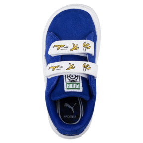 Thumbnail 5 of Minions Suede V Infant Sneakers, Olympian Blue-Puma White, medium