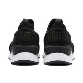 Thumbnail 4 of En Pointe Muse Satin Women's Trainers, Puma Black-Puma White, medium
