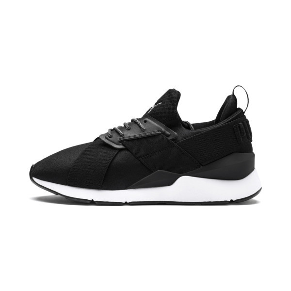 Basket Muse Satin En Pointe pour femme, Puma Black-Puma White, large