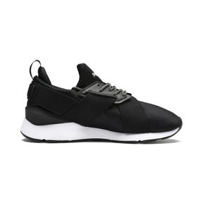 Thumbnail 5 of En Pointe Muse Satin Women's Trainers, Puma Black-Puma White, medium
