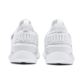 Thumbnail 3 of En Pointe Muse Satin Women's Trainers, Puma White-Puma White, medium