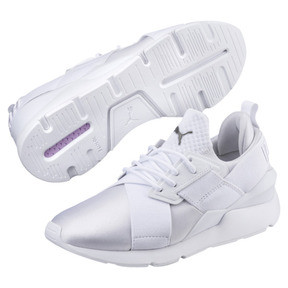 Thumbnail 2 of En Pointe Muse Satin Women's Trainers, Puma White-Puma White, medium