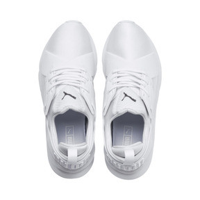 Thumbnail 6 of En Pointe Muse Satin Women's Trainers, Puma White-Puma White, medium