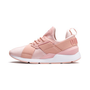 Thumbnail 1 of En Pointe Muse Satin Women's Trainers, Peach Bud-Peach Bud, medium