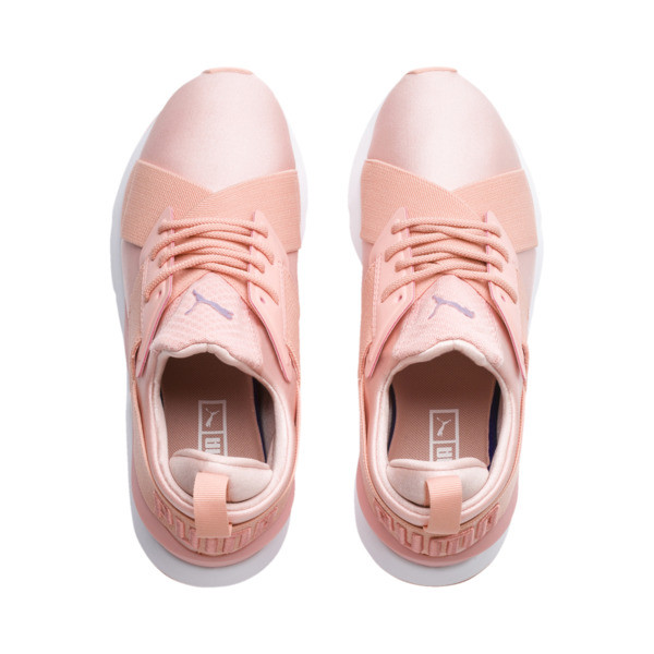 En Pointe Muse Satin Women's Trainers, Peach Bud-Peach Bud, large