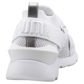 Thumbnail 4 of Muse evoKNIT Women's Trainers, White-Gray Violet- White, medium