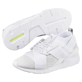 Thumbnail 2 of Muse evoKNIT Women's Trainers, White-Gray Violet- White, medium