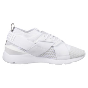 Thumbnail 3 of Muse evoKNIT Women's Trainers, White-Gray Violet- White, medium