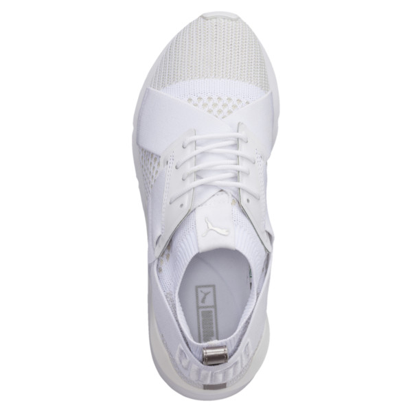 Muse evoKNIT Women's Trainers, White-Gray Violet- White, large