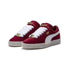 Thumbnail 2 of Basket Suede Classic B-BOY Fabulous pour femme, Red Dahlia-Puma White-Melon, medium
