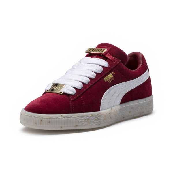 Suede Classic B-BOY Fabulous Women's Trainers, Red Dahlia-Puma White-Melon, large