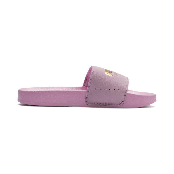 Suede Leadcat, Pale Pink-Puma Team Gold, large