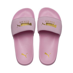 Thumbnail 6 of Suede Leadcat, Pale Pink-Puma Team Gold, medium