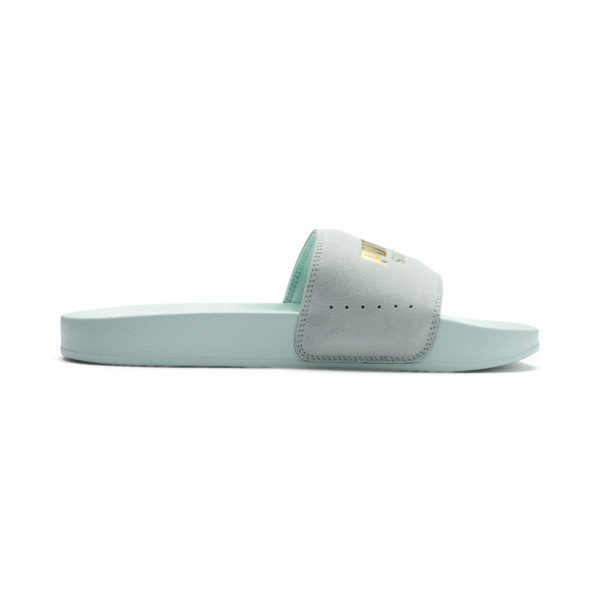 Suede Leadcat, Fair Aqua-Puma Team Gold, large