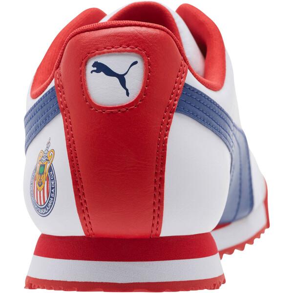 Roma Basic CDG Men's Sneakers, White-Limoges-High Risk Red, large